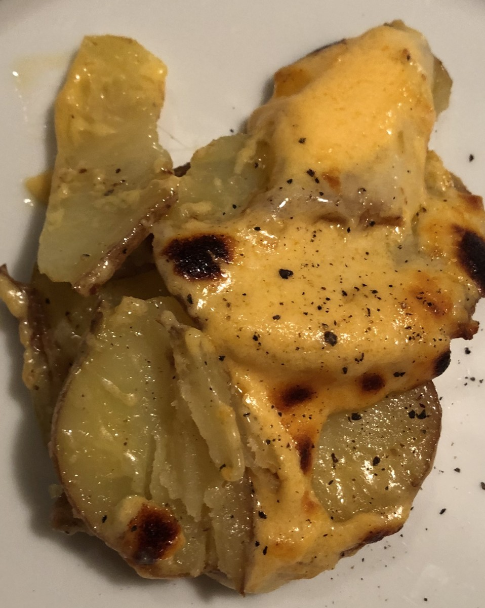 Beer Cheese Au Gratin Potatoes
