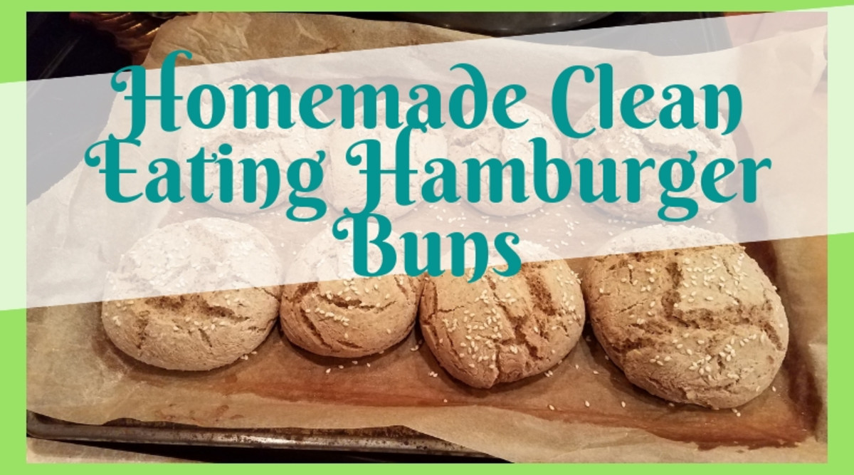Homemade Clean Eating No-Rise Hamburger Buns