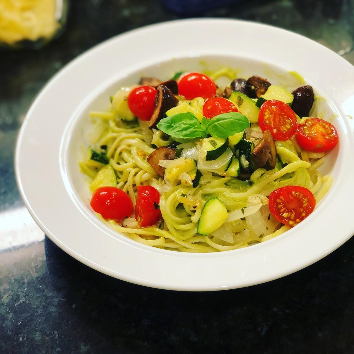 Creamy Avocado Spaghetti