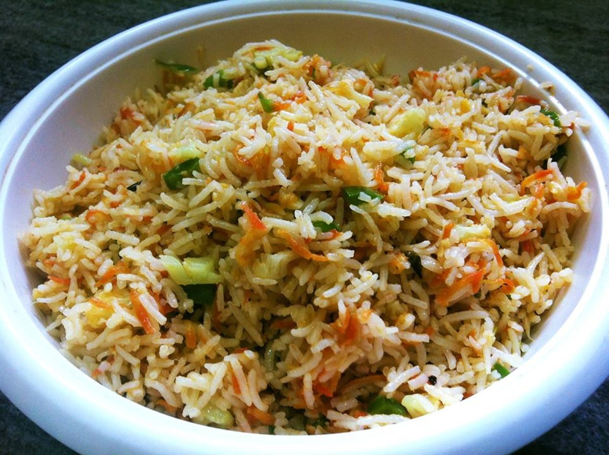 Indo-Chinese Vegetable Fried Rice Recipe