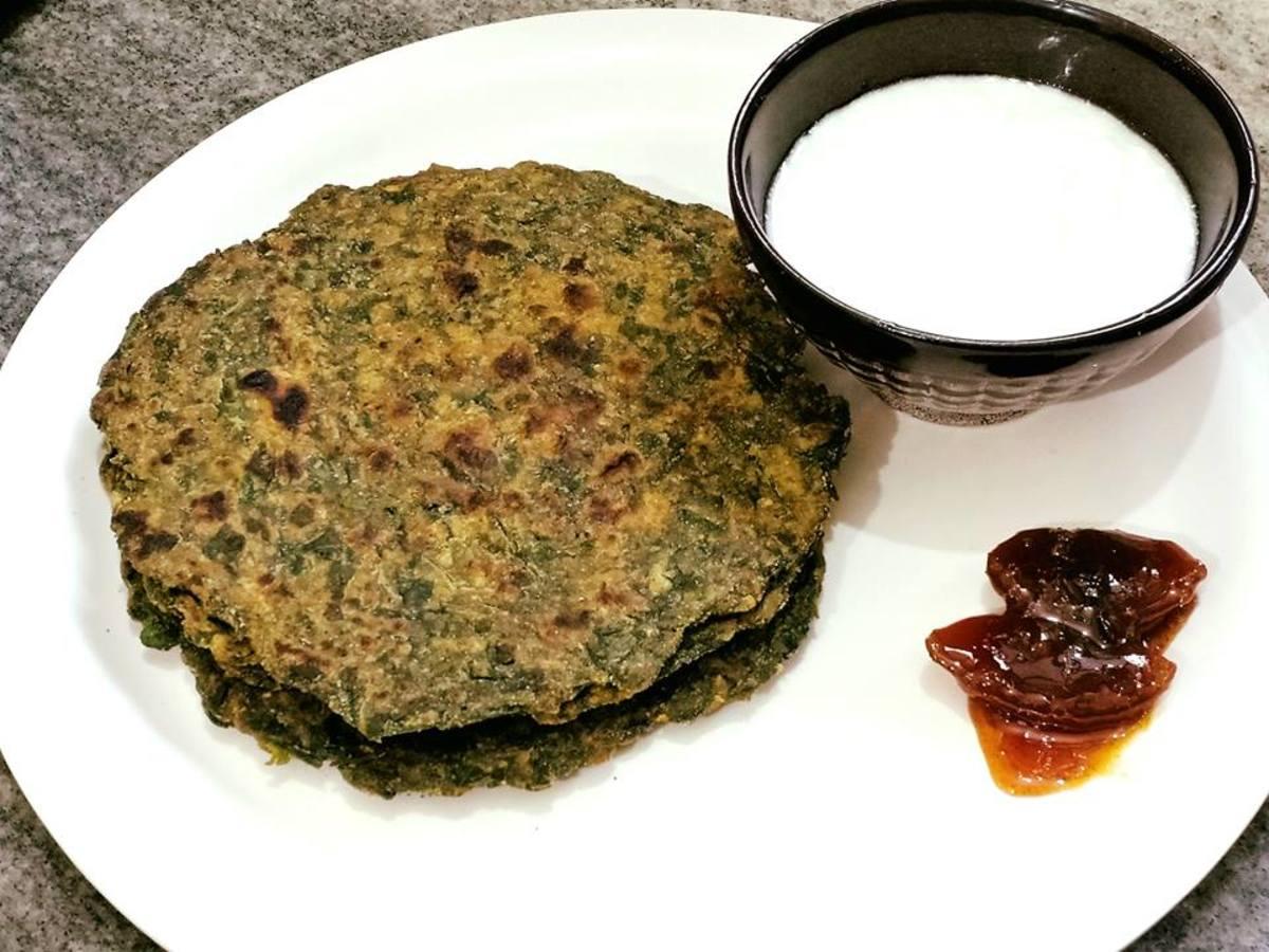 bathua-paratha-recipe-indian-flatbread-with-chenopodium-leaves