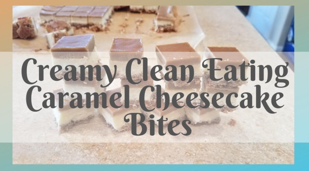 healthy caramel cheesecake bites