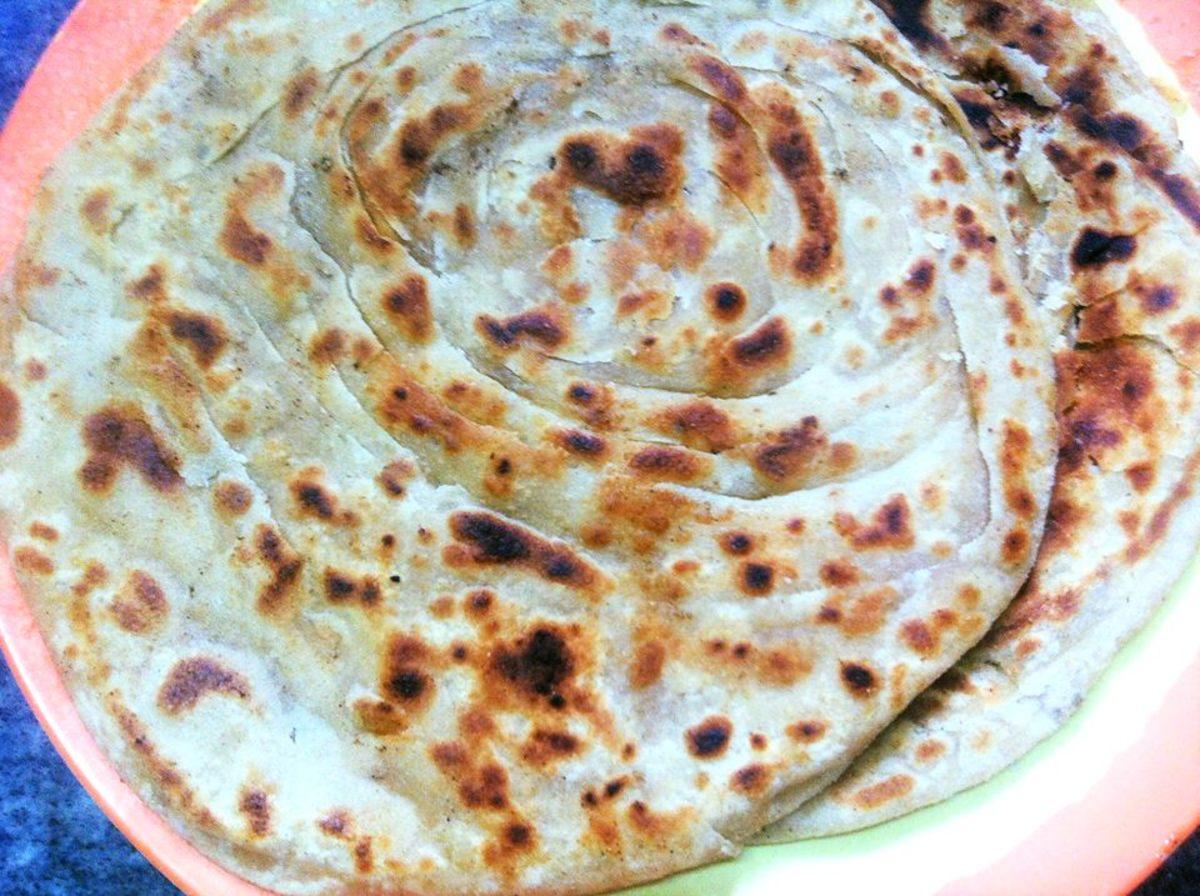 Lachha paratha, the multi-layered Indian flatbread