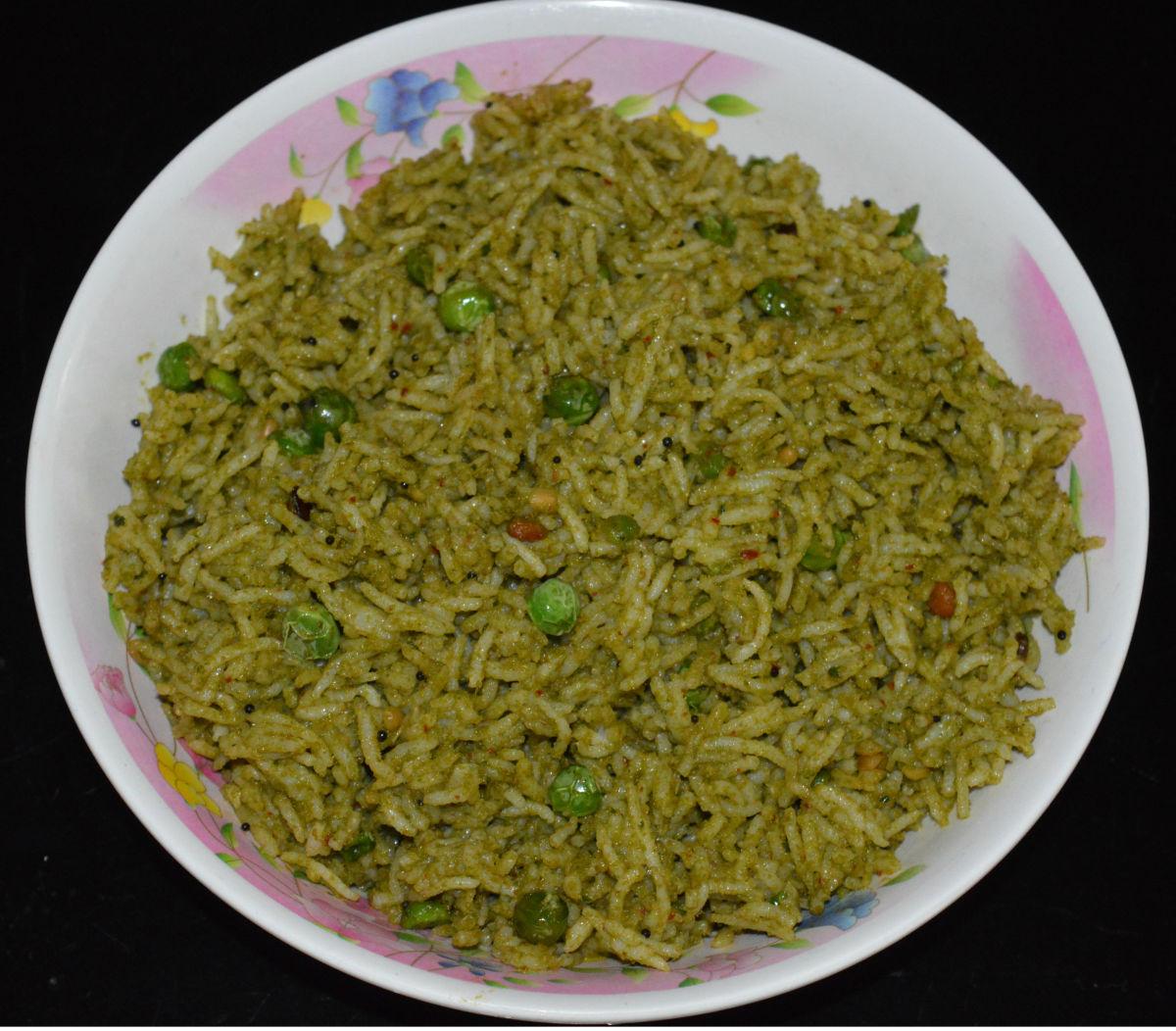 How to Make Mint Leaf Rice (Pudina Rice)