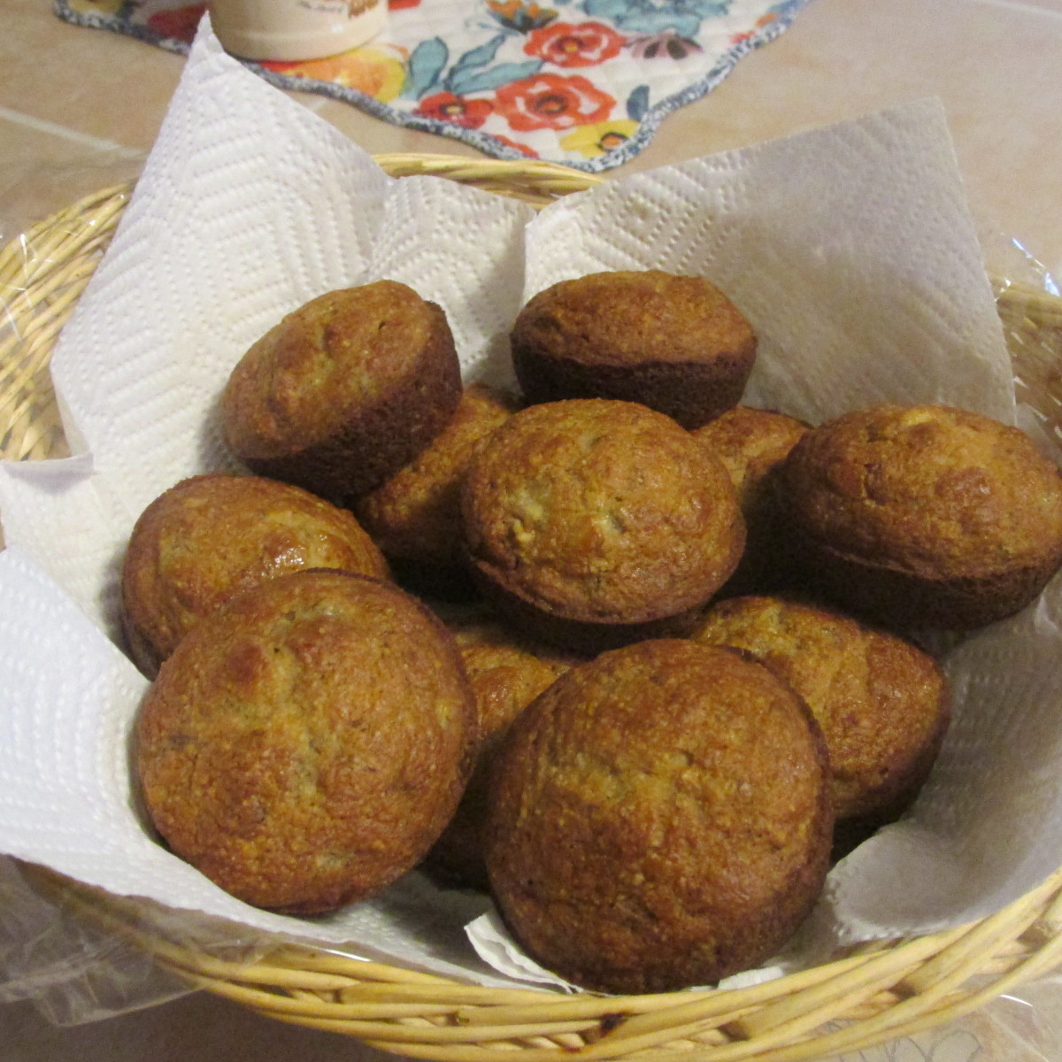Sugar-Free and Low-Fat Banana Nut Muffins