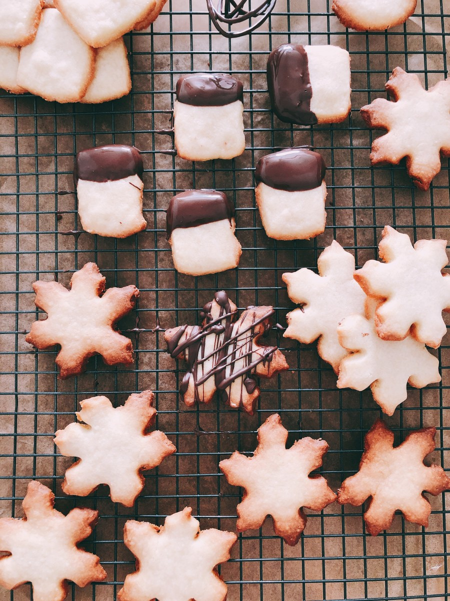 Fresh and warm shortbread cookies. They are so delicious!