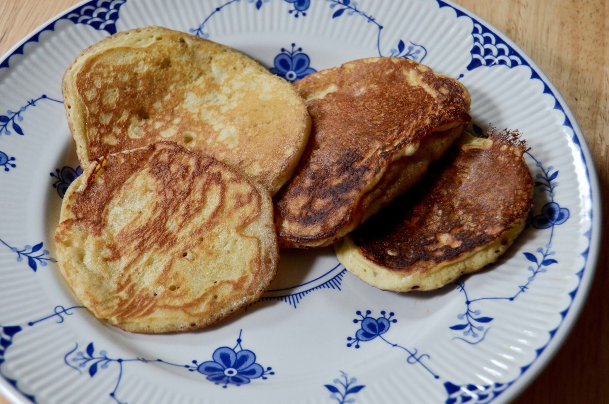 A complete batch of delicious sourdough pancakes