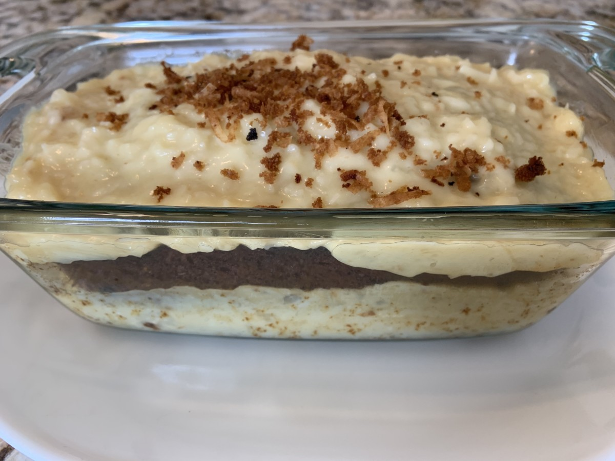 Honey Coconut Pudding Cake