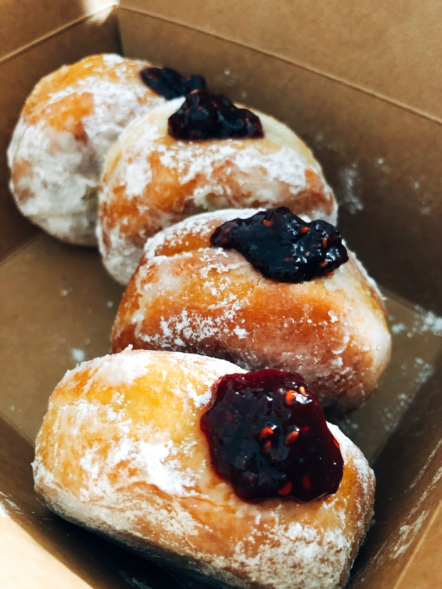 Raspberry Jam Filled Donuts