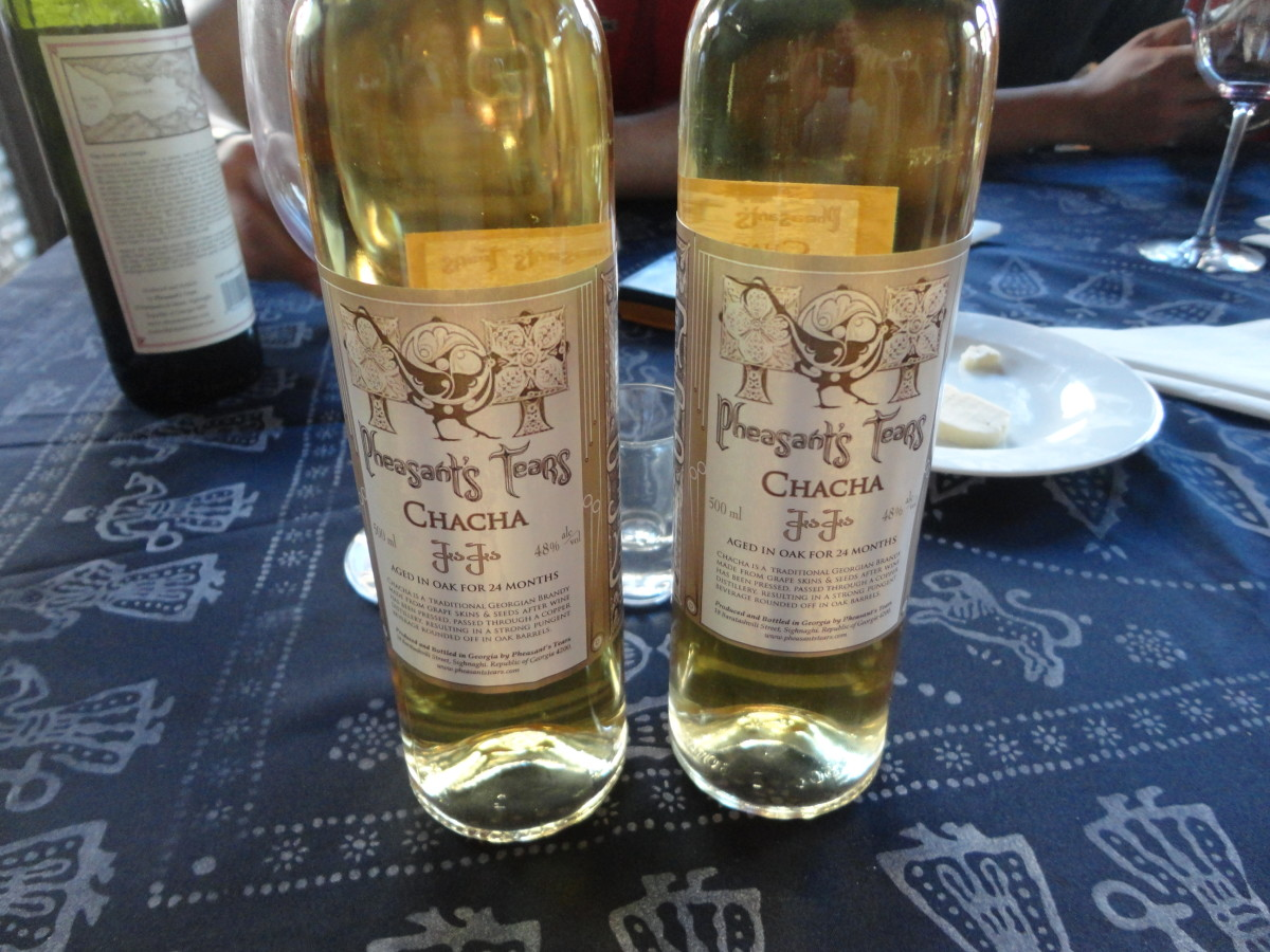 Bottles of Georgian Chacha wine