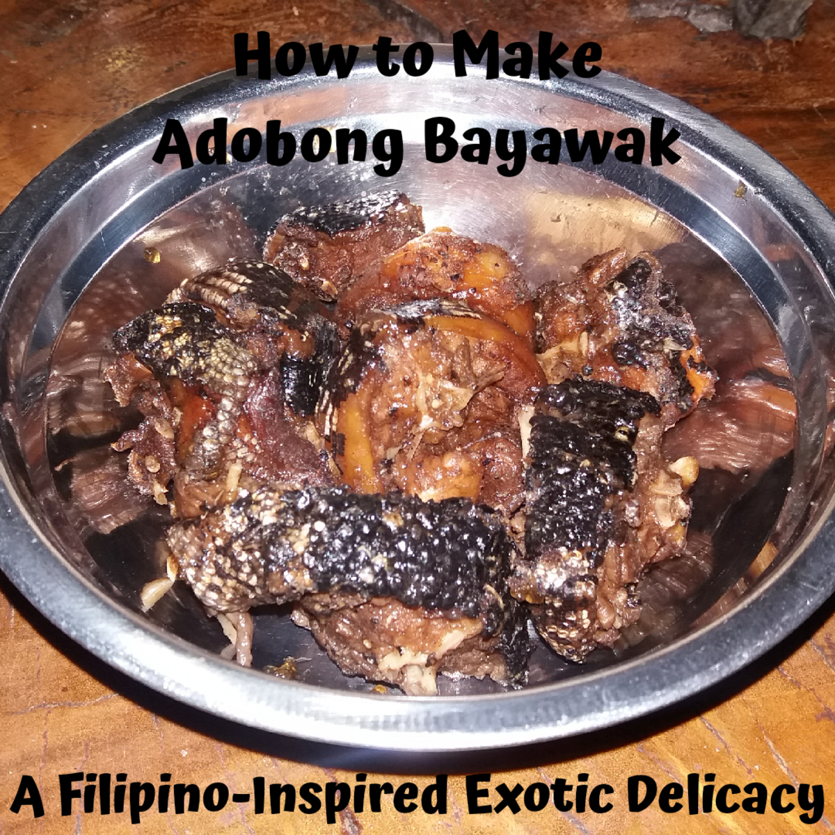 Learn how to make adobong bayawak: a Filipino-inspired exotic delicacy.
