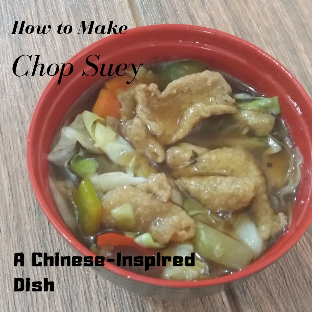 How to make chop suey, a Chinese-inspired dish.