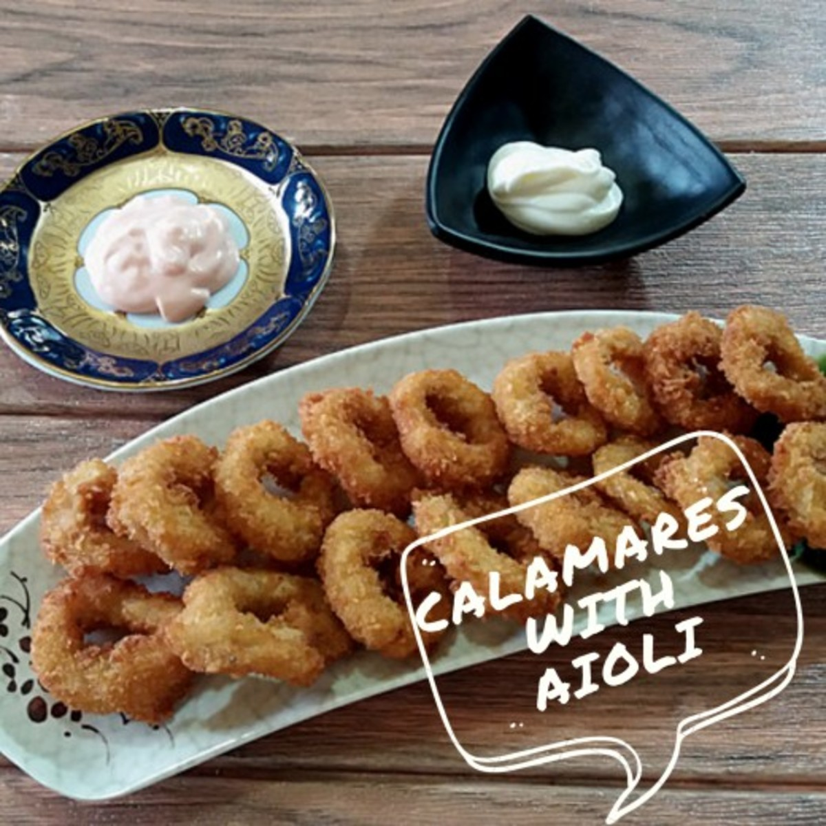 Calamares fritos makes a fantastic appetizer, especially when served with a delicious aioli.