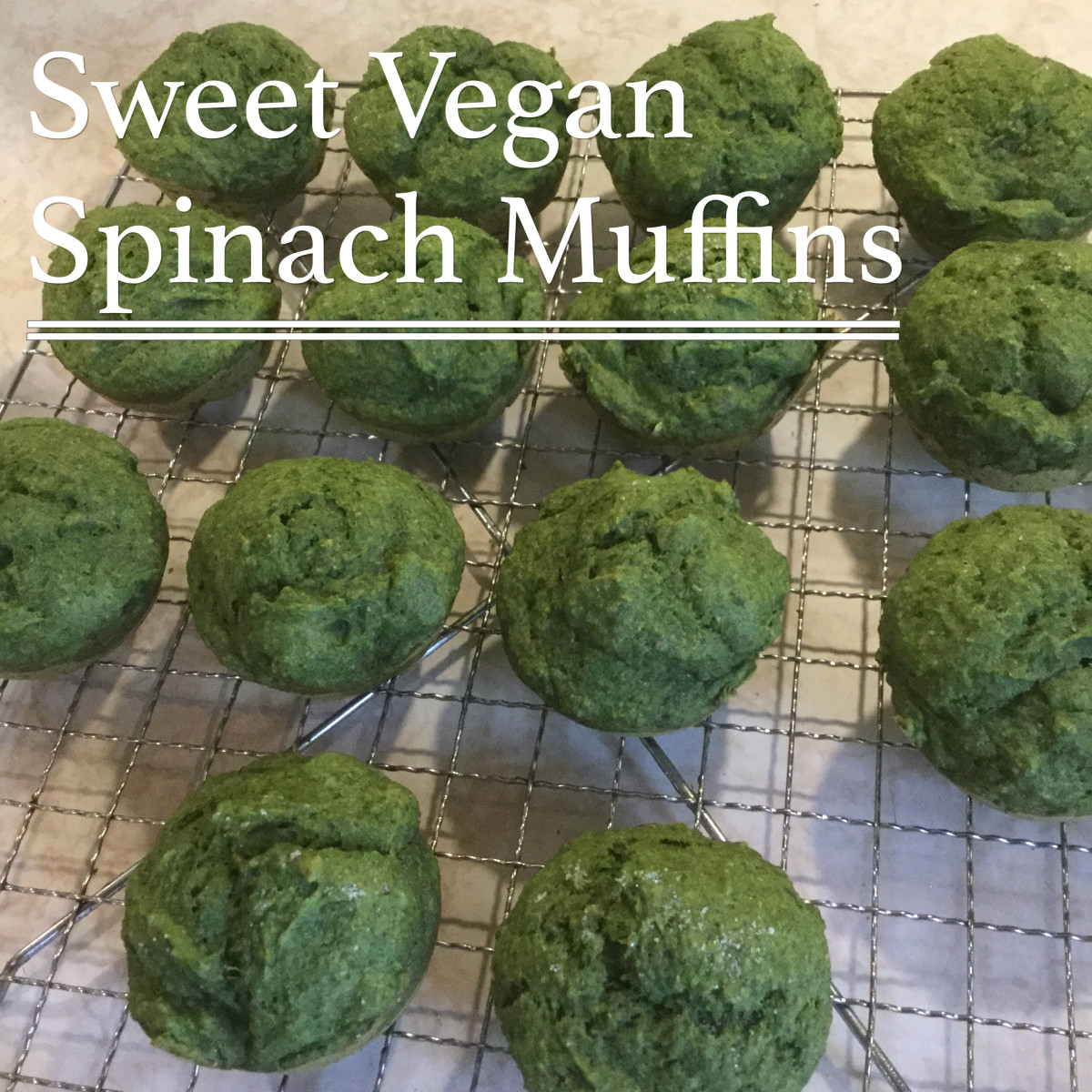 Yummy Sweet Vegan Spinach Muffins