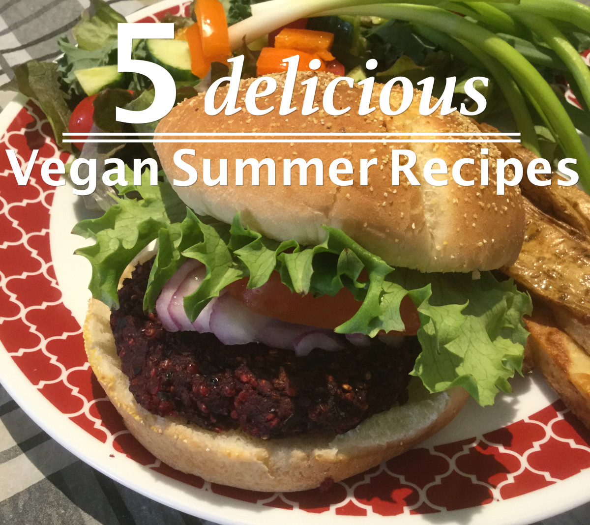 This beet and bean burger is one great idea for your vegan barbecue.