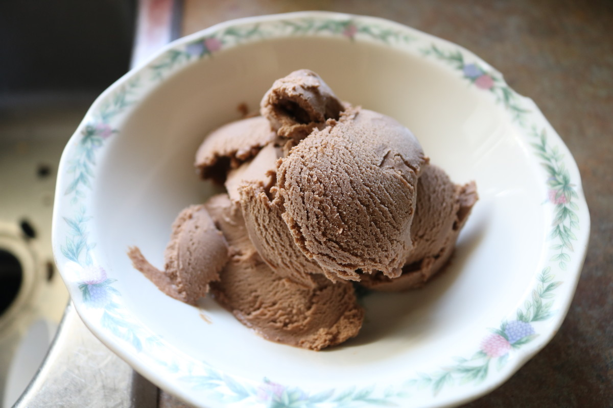 This gorgeous ice cream is perfectly sweet and perfectly chocolaty: rich, decadent and fabulous.