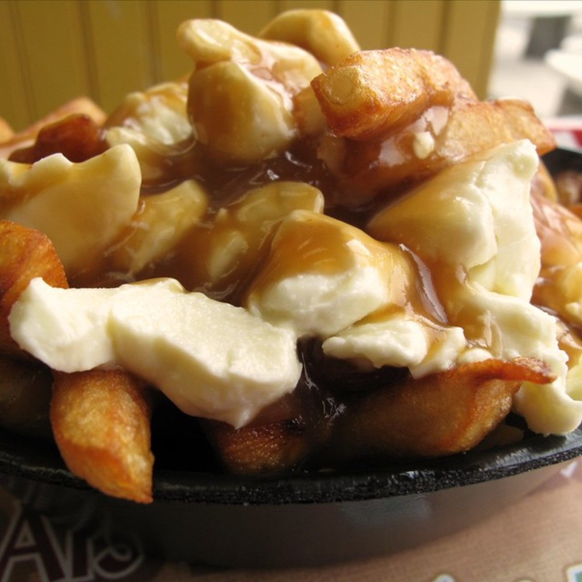 Poutine is the unofficial food of Quebec.