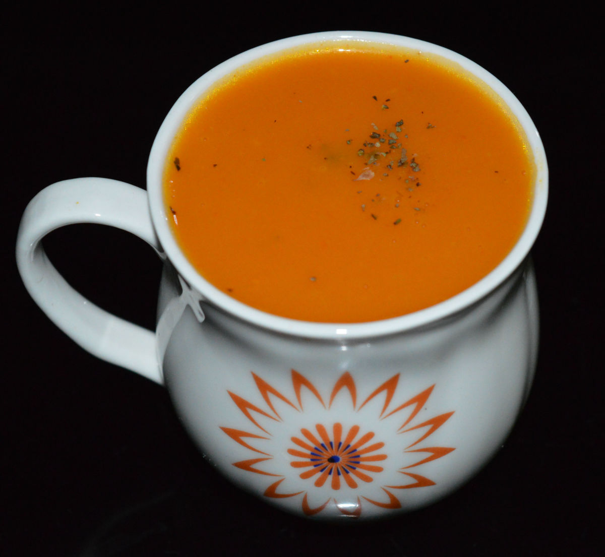 Carrot onion soup