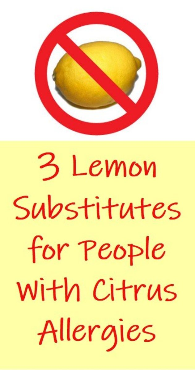 If you have an allergy or intolerance to lemon and other citrus, discover some tasty substitutes.