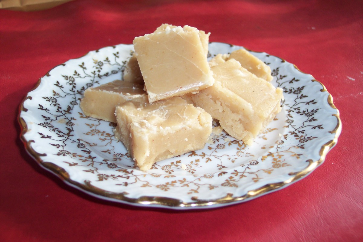 Peanut butter fudge is not difficult to make.