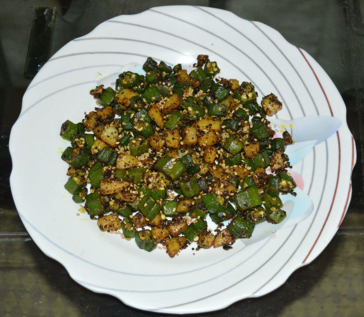 Okra and Potato Hash Recipe