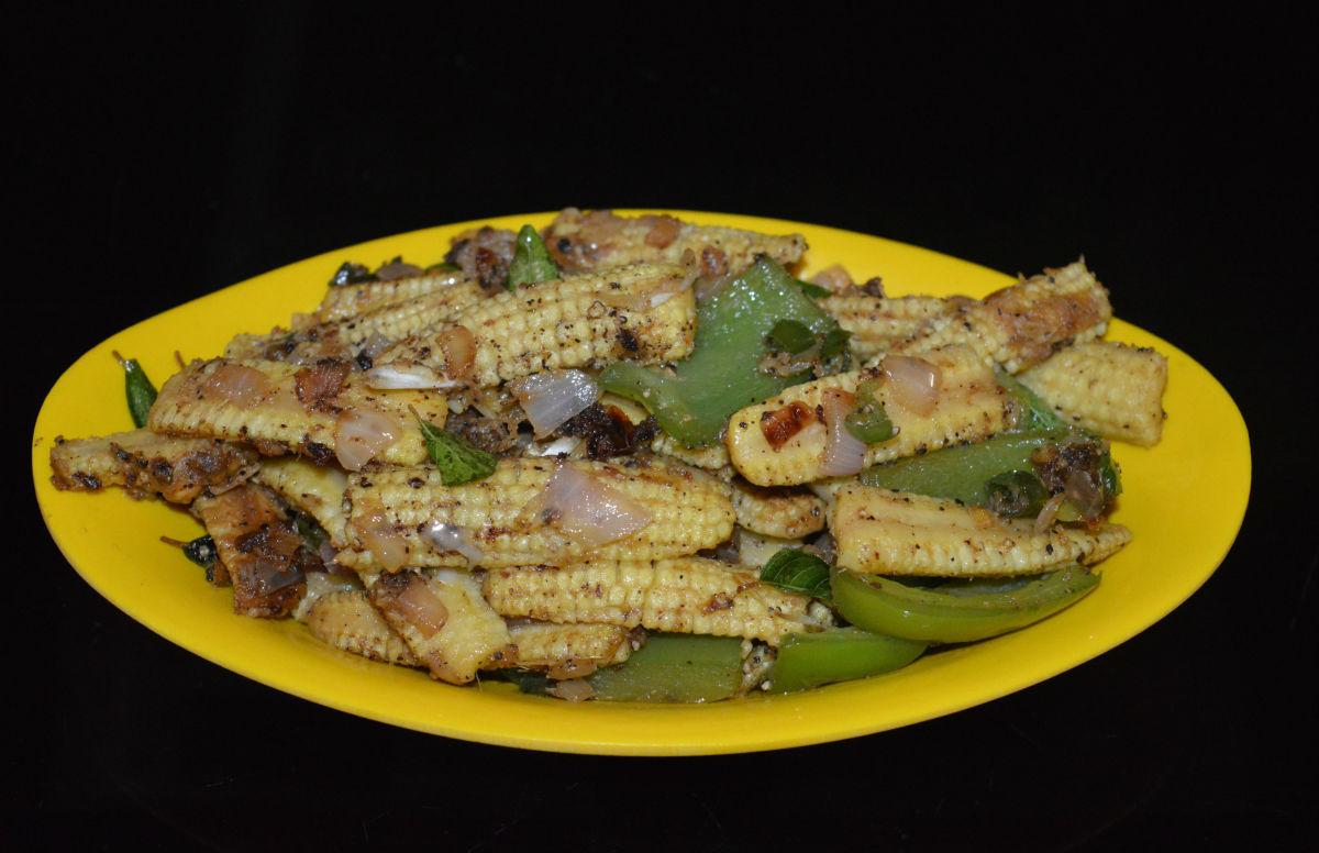 Baby Corn and Capsicum Pepper Stir-Fry