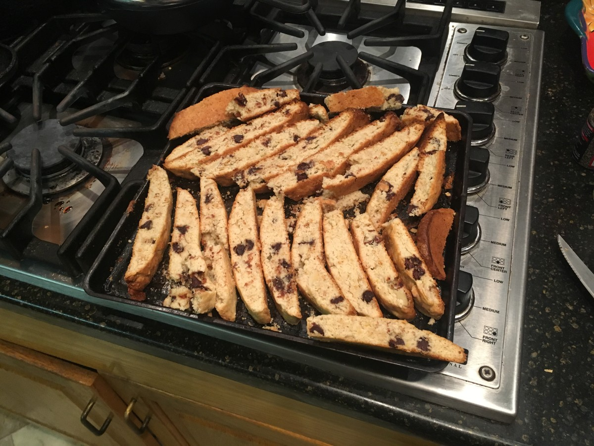 Lemon rose biscotti, fresh from the oven