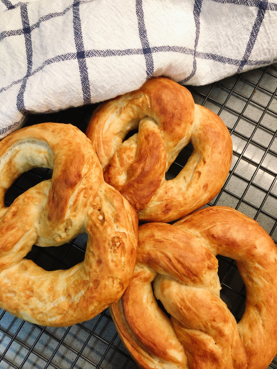 These pretzels were so yummy! I enjoyed making them at home.