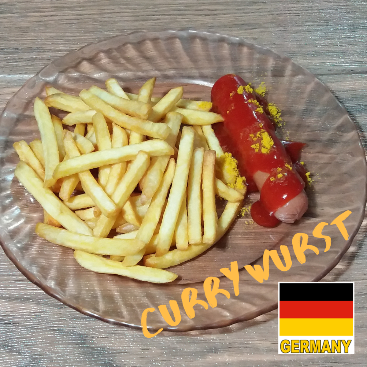 How to cook currywurst.