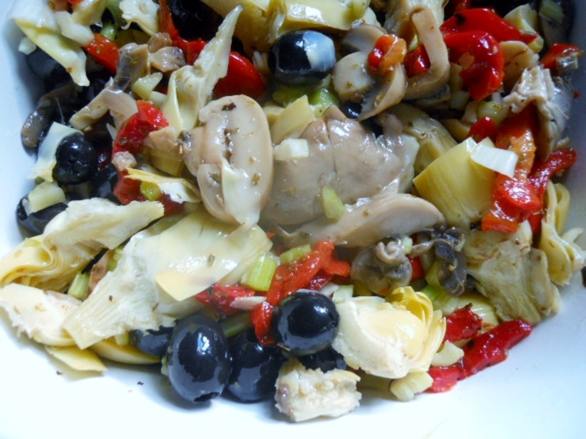 This five-ingredient antipasto salad is colorful, tasty, and quick