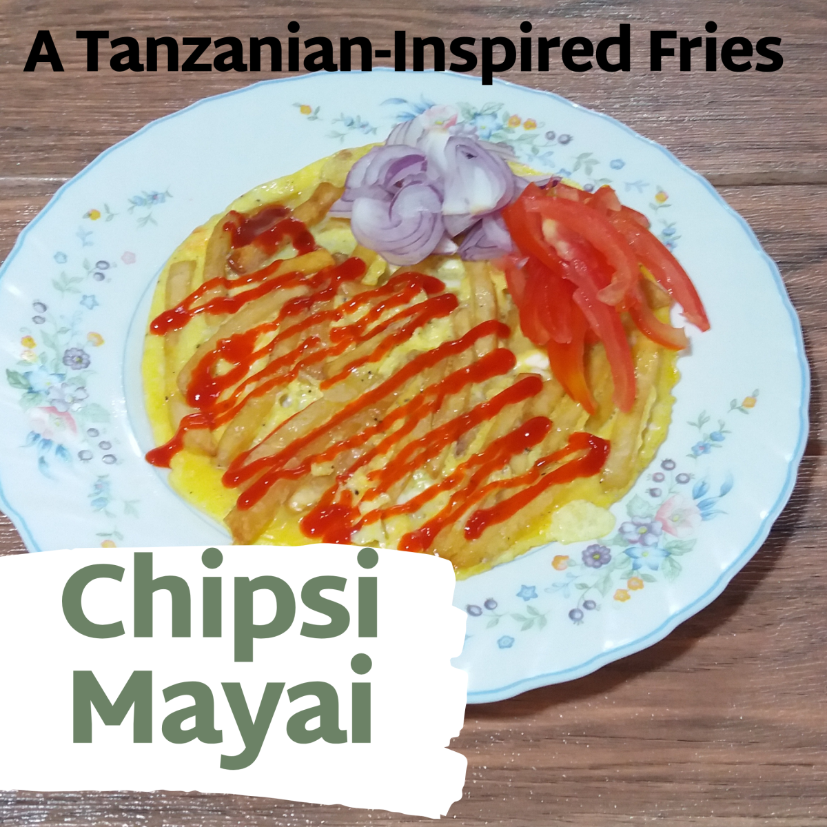 Chipsi mayai (French fries omelette).