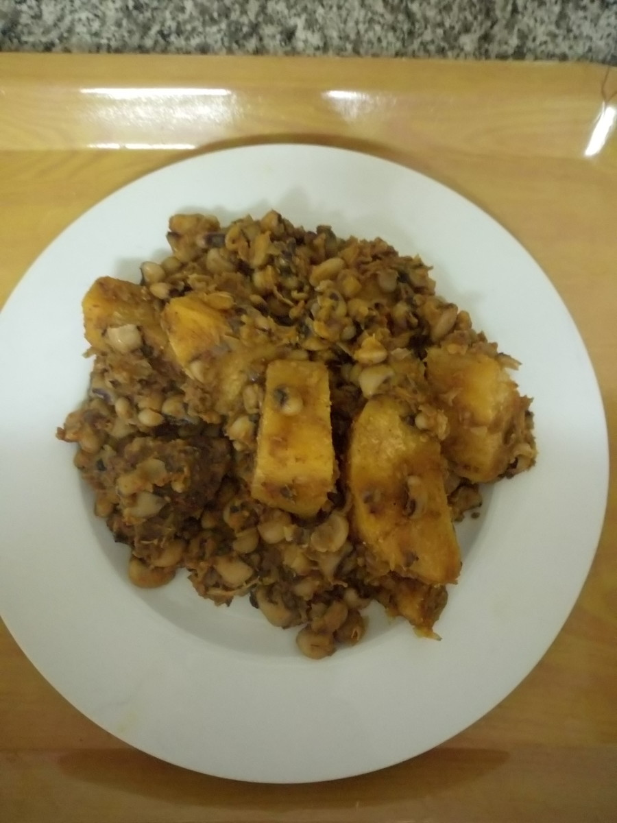 How to Cook Nigerian Beans and Yam Pottage
