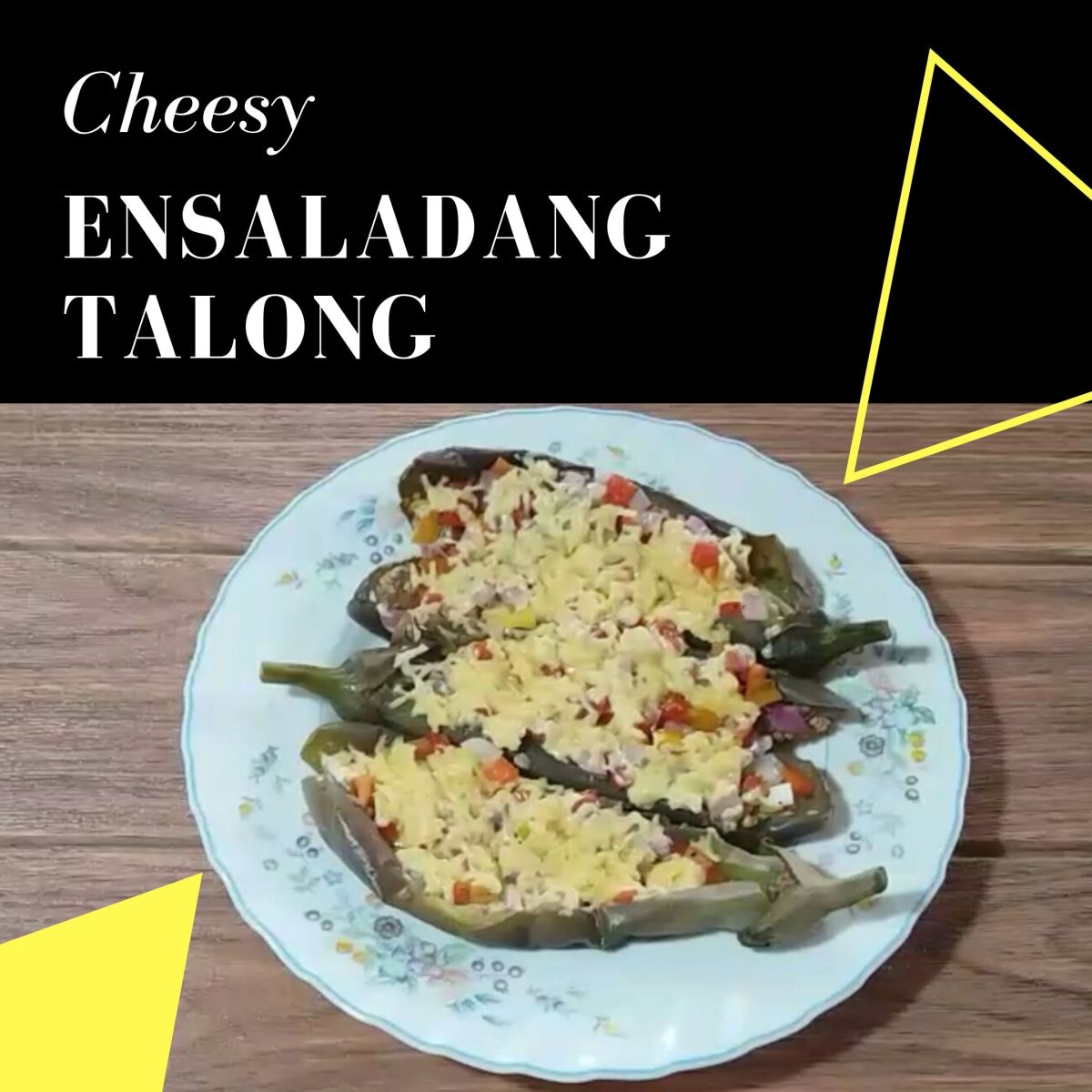 Learn how to make cheesy ensaladang talong (eggplant salad).