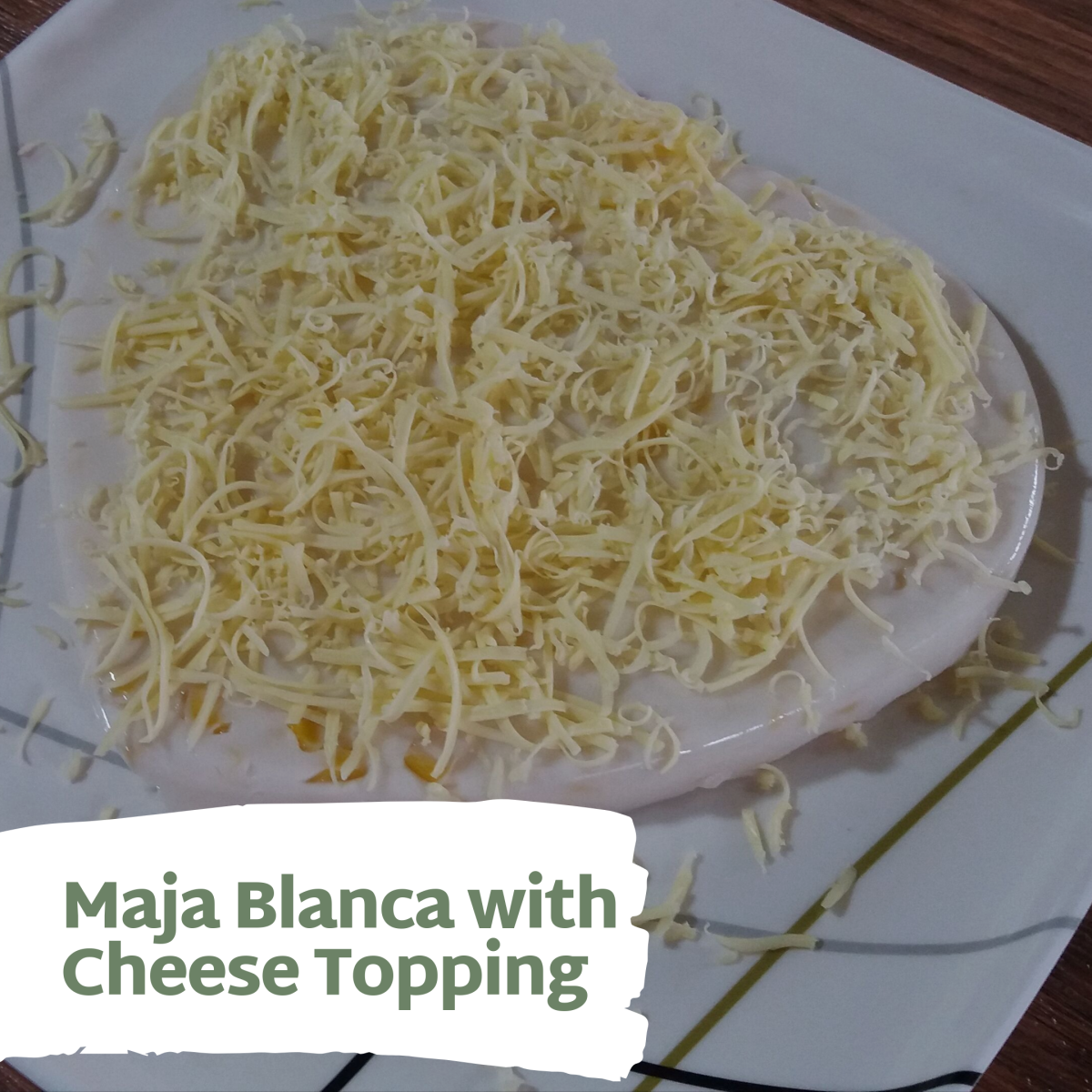 Maja blanca with cheesy topping