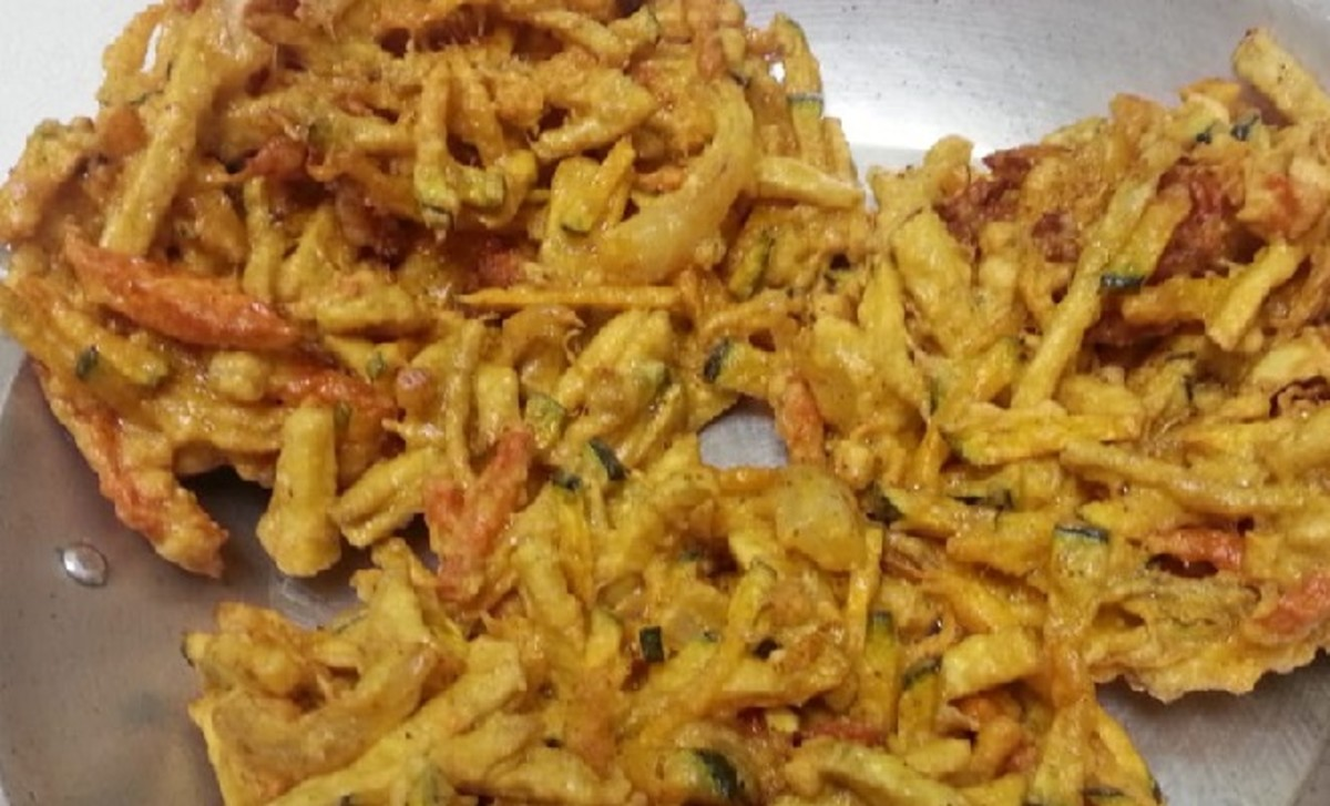 Ukoy are Filipino fritters that are traditionally made with shrimp and vegetables.