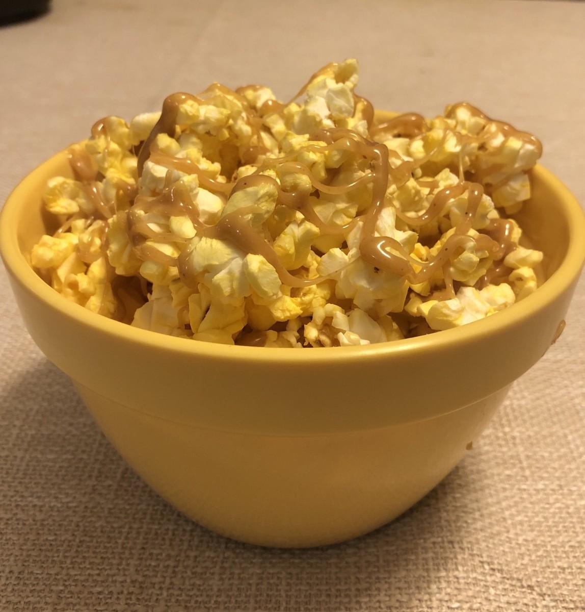 Peanut butter caramel popcorn.