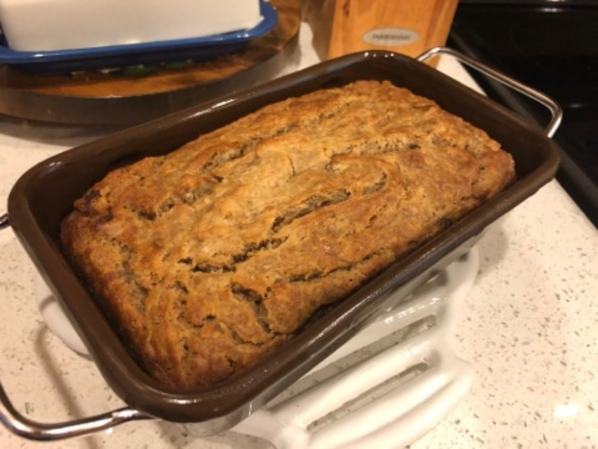 Moist gluten-free banana bread.