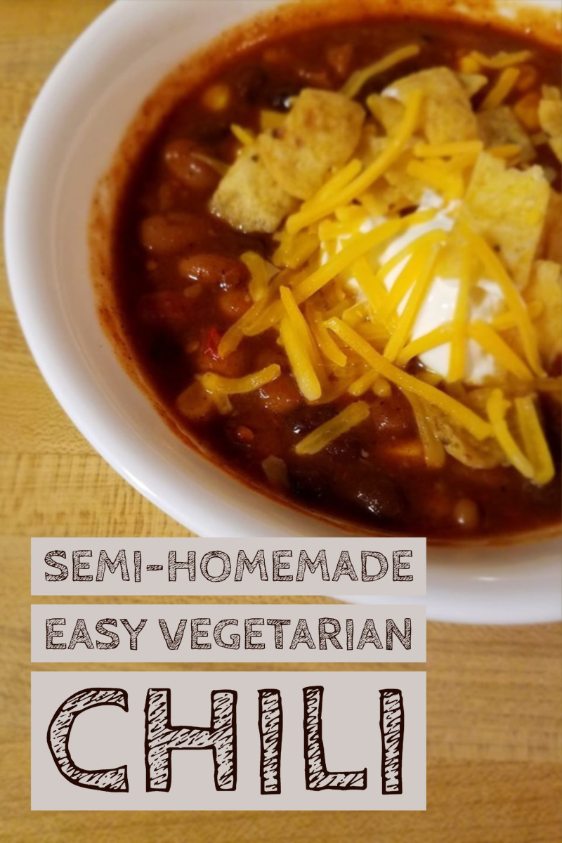 Semi-Homemade Easy Vegetarian Chili Recipe