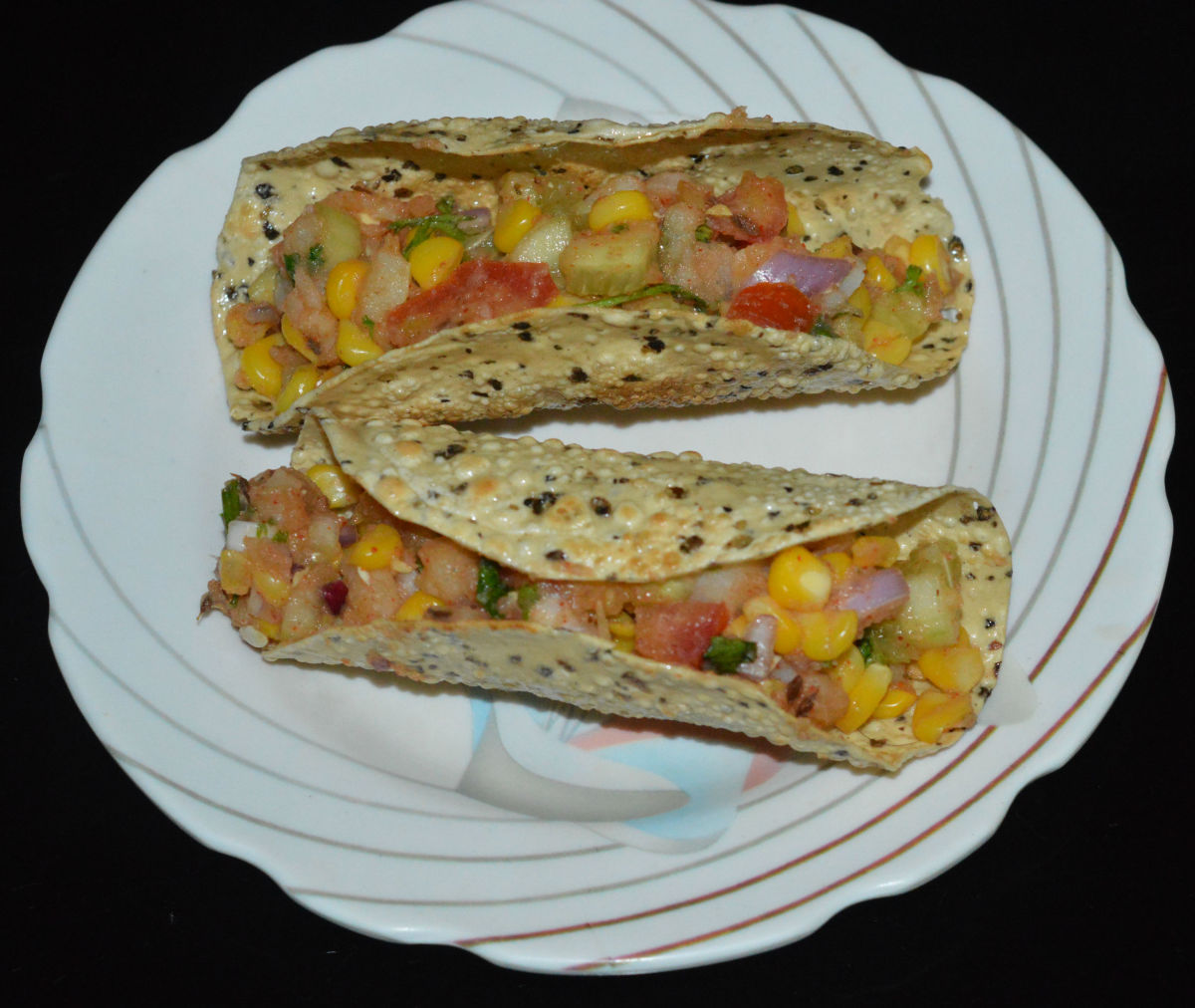 Papad tacos
