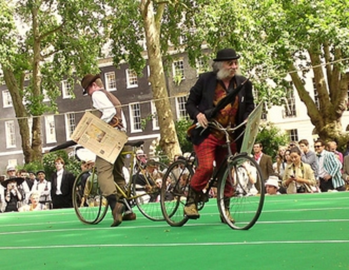 Bicycle jousting at the Chap Olympiad in London.