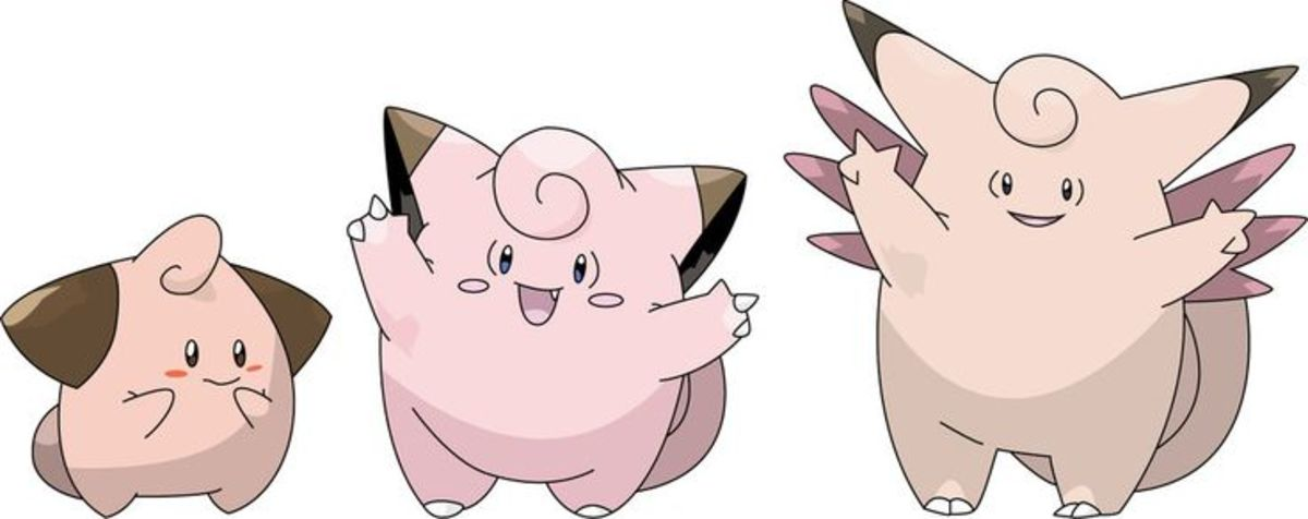 Cleffa, Clefairy, and Clefable