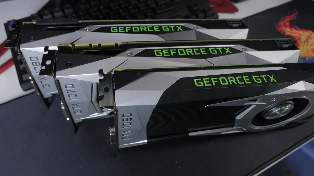 We take a look at graphics cards for all budgets and let you know how they'll perform in Battlefield 1. Pictured: Here's a look at NVIDIA's GTX 1060, 1070, and 1080 side by side. We'll compare them to AMD's RX 480, 470, 460 and NVIDIA's new 1080 Ti.