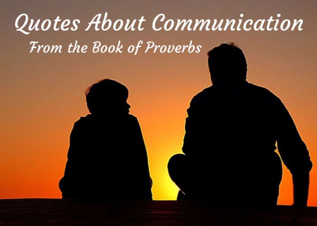 Quotes From the Book of Proverbs on Communication