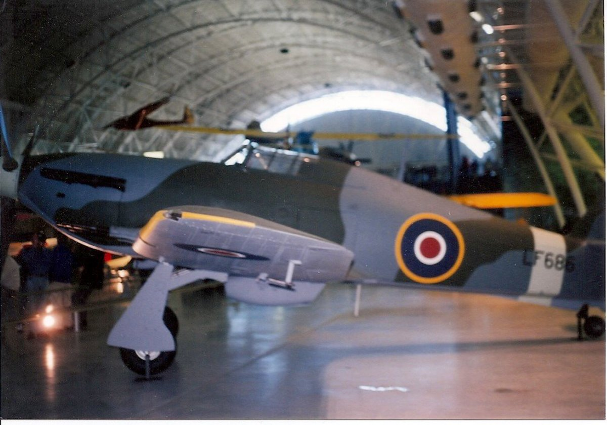 The Hawker Hurricane at the Udvar-Hazy Center, December 2003.