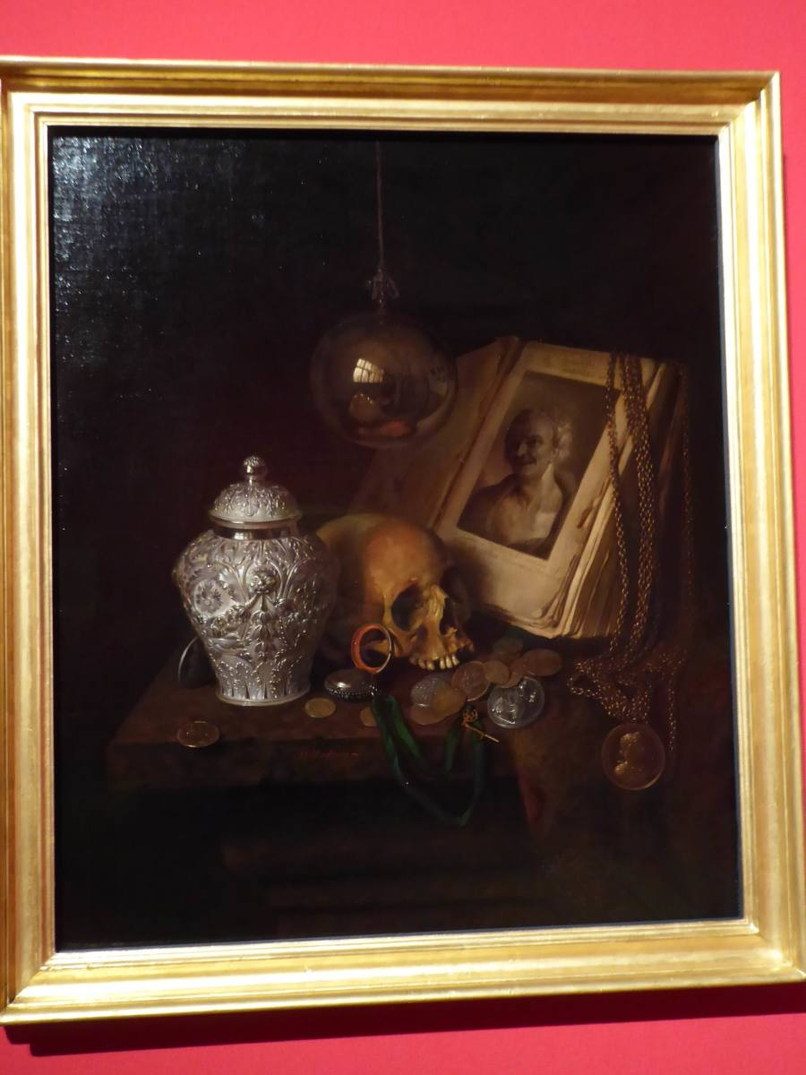 Pieter Gerritsz van Roestraten 'A Vanitas.' Copyright image Frances Spiegel with Permission from Royal Collection Trust. All rights reserved.