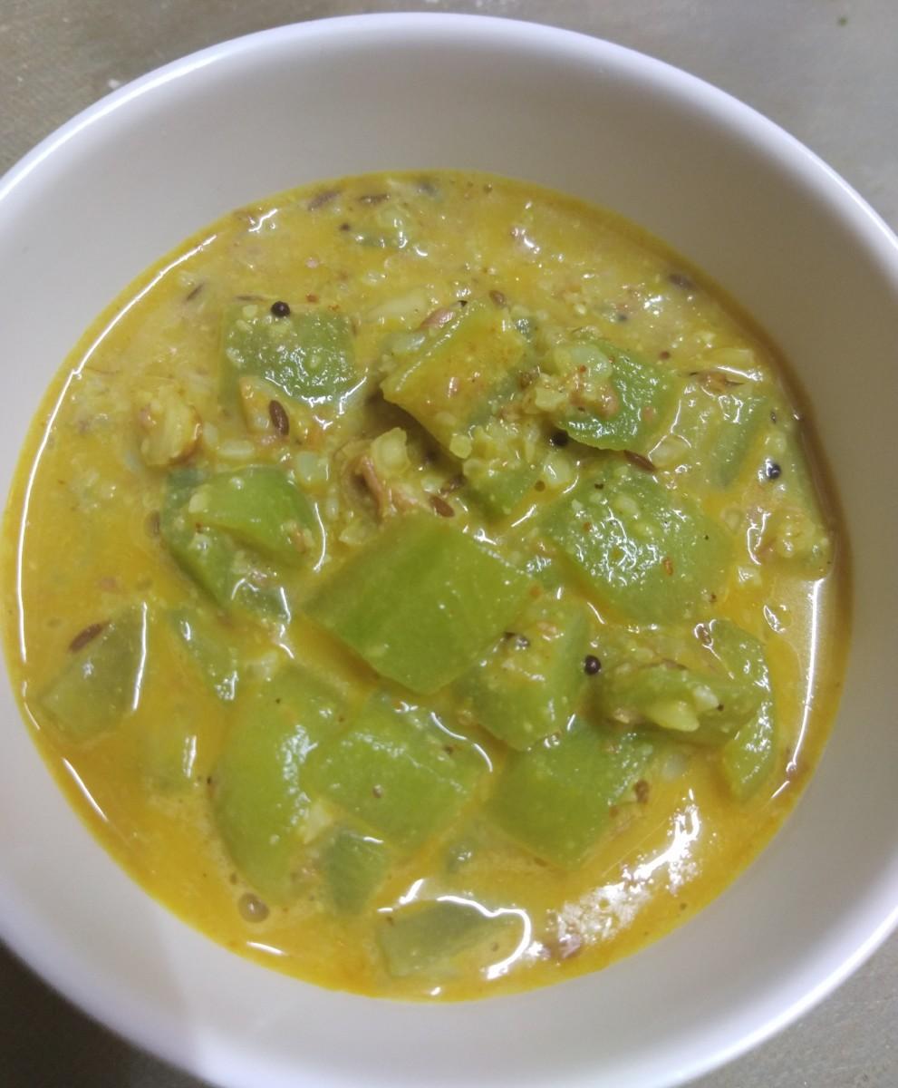 Ridge gourd curry.