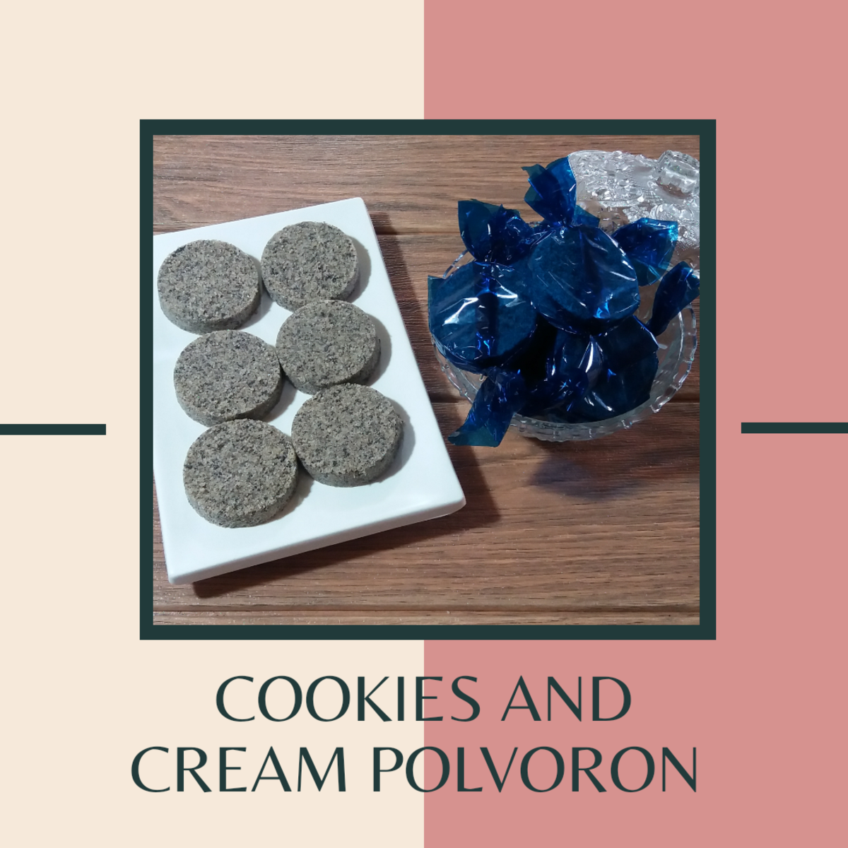 Cookies and cream polvoron
