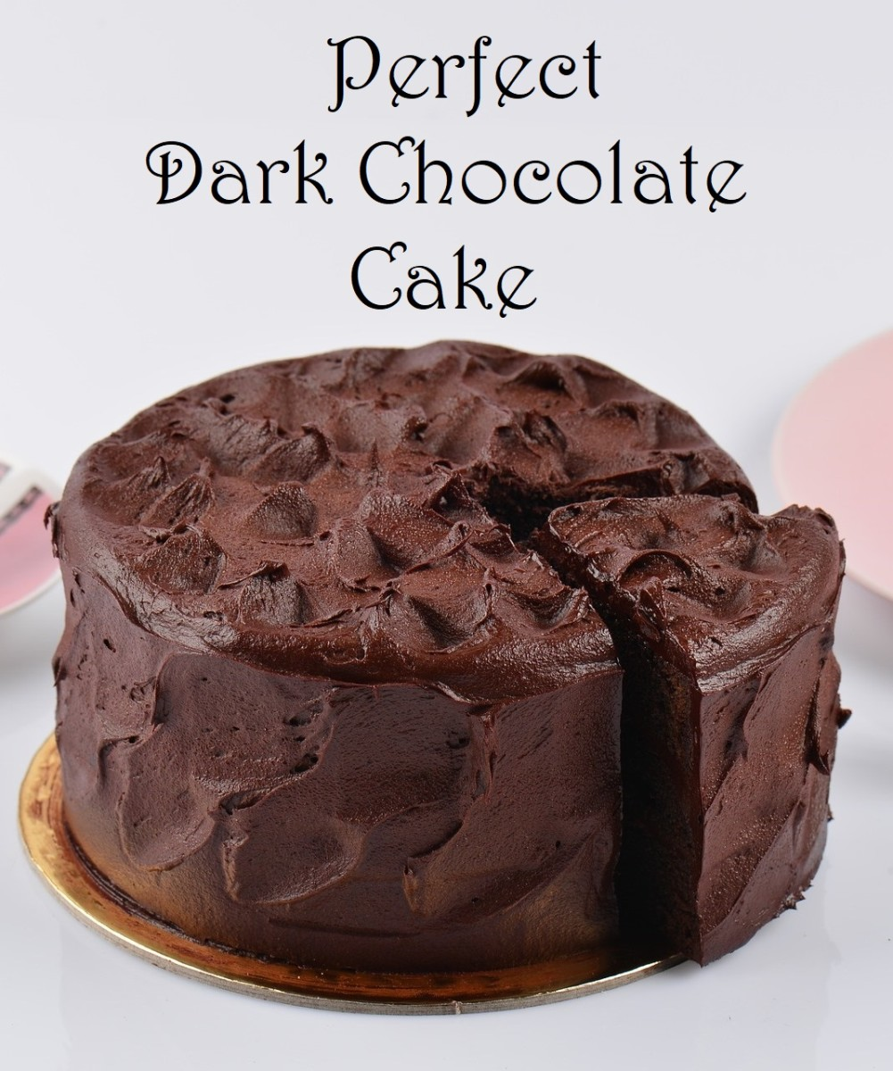 Learn how to make a perfectly moist, flavorful, dark chocolate cake