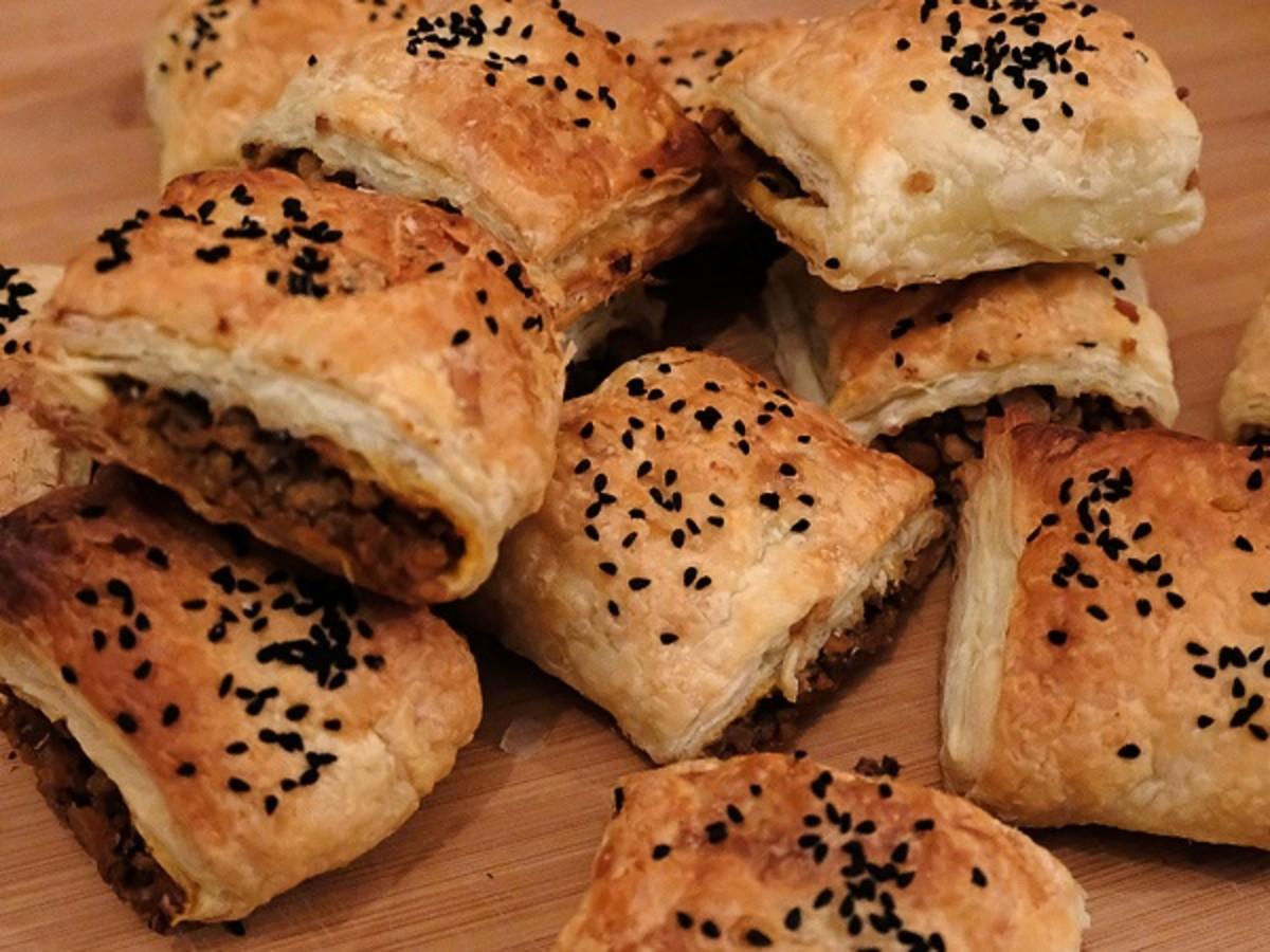 Vegetarian Scottish Haggis Sausage Rolls
