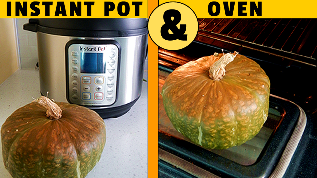 Two different ways to cook a whole squash